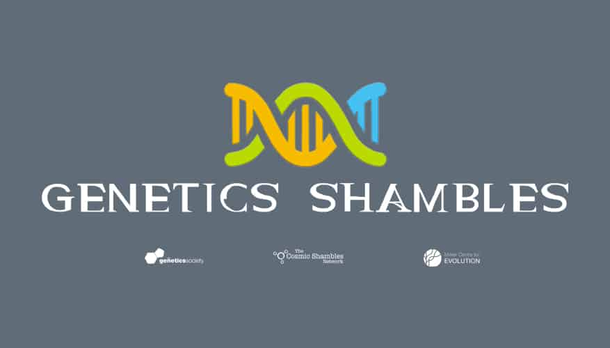 Genetic Shambles logo on Grey