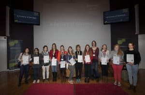 A group photo of A Century of Genetics poster prize winners